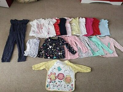 Girls Bundle Of Clothes 18-24 Months summer and winter tops pyjamas playsuit