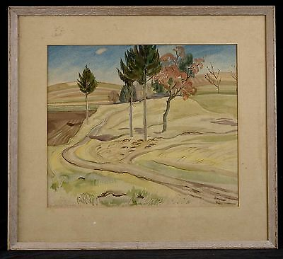 Rare Modernist Watercolor by Hedwig Jarke (1882- ? ), circa 1934
