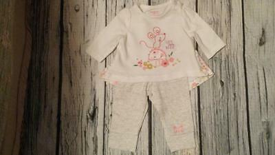 3dd582c2b JUST ONE YOU Carters Infant Girls 2 Pc Overalls Shirt Outfit Set ...