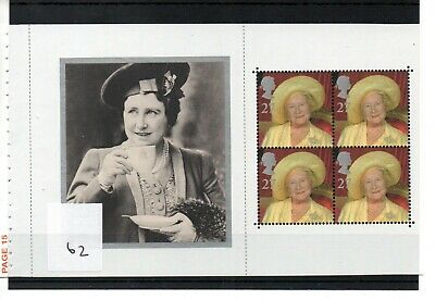 GB - PRESTIGE STAMP BOOKLET PANE (62) - Queen Mother - unmounted mint