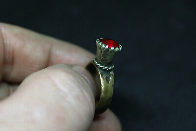 Antique Post Medieval silvered ring wearable size N