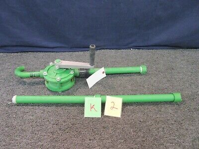 Rotary Drum Pump Uline Plastic 15-55 GAL H-4377 Fluid Liquid Transfer Water Soap