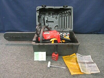 Homelite Gas Chainsaw 18 42cc 2-Cycle Case Power Tool Tree Log Cutting Landscape