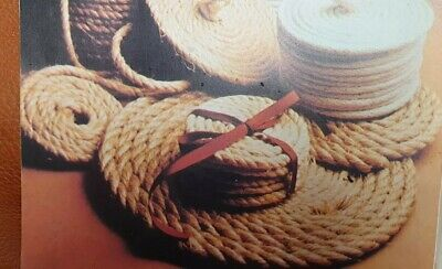 Weaving Pattern Raffia Macrame  Rushwork How To,Coiled  Round  mats  Reproduced
