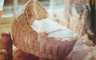 Weaving Basketry Pattern  How To Make a Babys Cradle,Moses Basket Reproduced