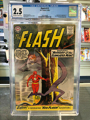 Flash #112 CGC 2.5 Off-White to White Pages 1st Appearance of the Elongated Man