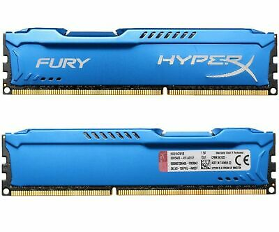 For 16GB 2X 8GB Kingston HyperX PC3-12800 DDR3-1600MHz CL11 DIMM Desktop RAM ZCA