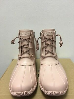 e65da04cc96a New - Women s Sperry Top Sider Saltwater Flooded Rose Duck Boots Size 7