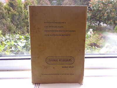 original Heidelberg spare parts  manual printing tools collectable vintage  book
