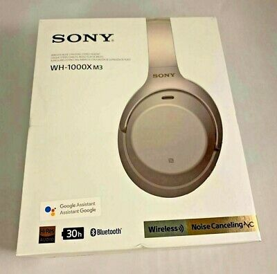 **NEW SEALED** Sony Wireless Over the Ear Headset Bluetooth (SILVER) WH-1000XM3