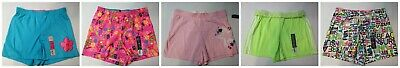Girls Shorts Cotton Blend Knit Assorted Graphics, Solid, Fold-over Waistband XL