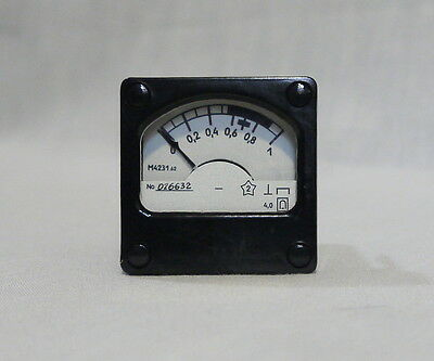 ANALOG PANEL MILLIAMPER METER / VU meter DC 0-1mA USSR RARE , lot of 1 pcs