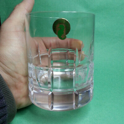 Crown Royal Whiskey 10 oz Tumbler Glass with Etched Sign Original Vintage Collec