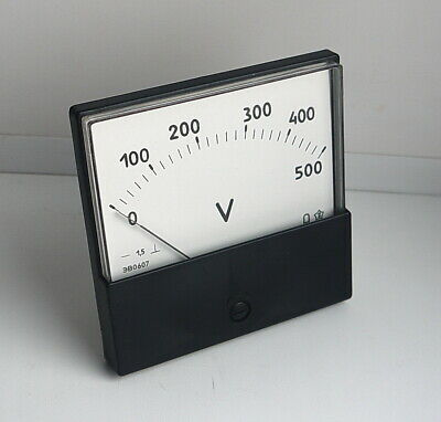 DC 0-500V Analog Dial panel Voltage Gauge Volt meter , USSR,  Lot of 1 pcs