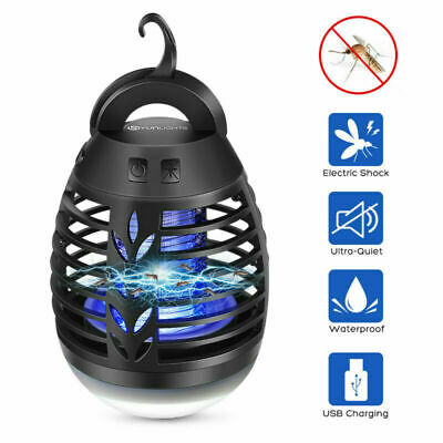 Electric UV Insect Killer Mosquito Fly Pest Bug Zapper Camping Tent Light Lamp