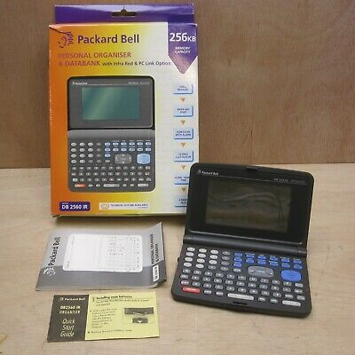 Packard Bell Personal Organiser Working Boxed w Manual DB 2560 IR Free UK P+P