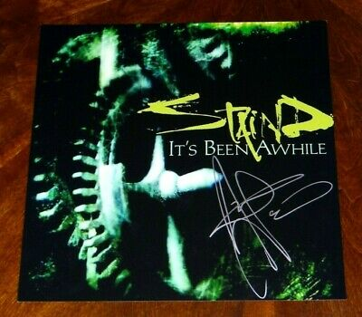 Staind Aaron Lewis Signed It's Been Awhile 12X12 Single Album Cover Photo!!!