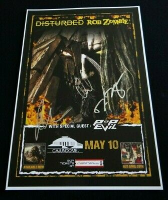 Disturbed Band Signed 12X18 Immortalized Tour Poster & Setlist!!!
