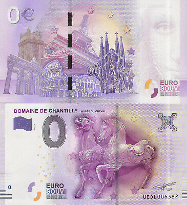 "Billete 0 euros ""DOMAINE DE CHANTILLY MUSEE DU CHEVAL"" serie 2017"