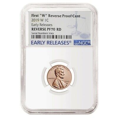 2019 W Reverse Proof Lincoln Penny Cent Comm. NGC PF 70 ER