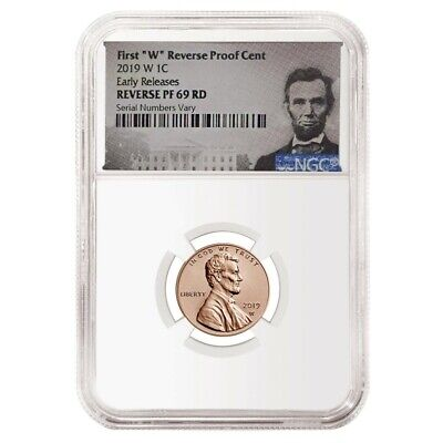 2019 W Reverse Proof Lincoln Penny Cent Comm. NGC PF 69 ER (Lincoln Label)