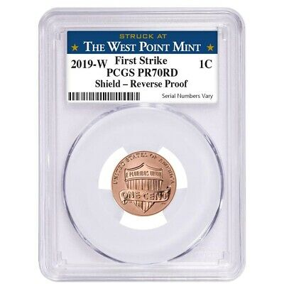 2019 W Reverse Proof Lincoln Penny Cent Comm. PCGS PF 70 FS (West Point)