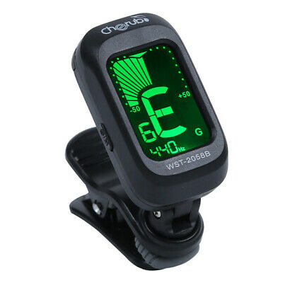 Clip-on LCD Digital Chromatic Electronic Guitar Tuner Bass Violin Ukulele