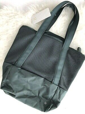 f68d53fe424 LULULEMON CARRY THE Day Bag NWT - Tote - Black Mesh - $130.00 | PicClick