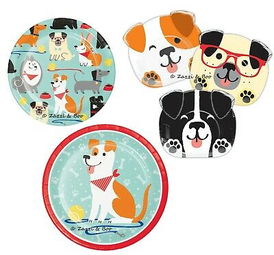 PUPPY DOG Party Birthday Pet Canine Event Tableware Plates Supplies Dog Print