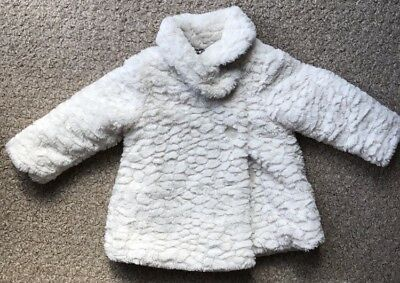 12-18 Months Girls Fake Fur Coat Jacket