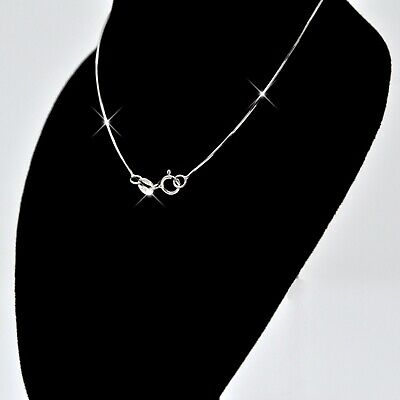 REAL SOLID SILVER Classic .925 Sterling Silver Chain Necklace Jewelry (Snake)