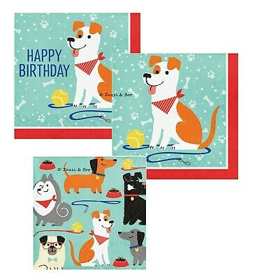 PUPPY DOG Party Birthday Pet Canine Event Tableware NAPKINS Supplies Dog Print