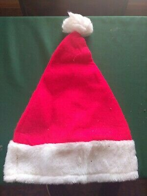 51bfca326552e Traditional Red   White Christmas Holiday Felt Santa Hat Adult Costume  Accessory