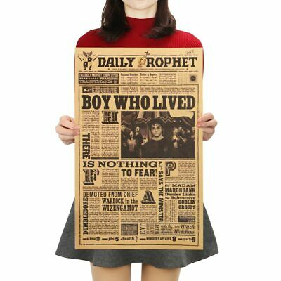 Classic Movie Kraft Paper Poster Harry Potter Daily Prophet Wall Sticker