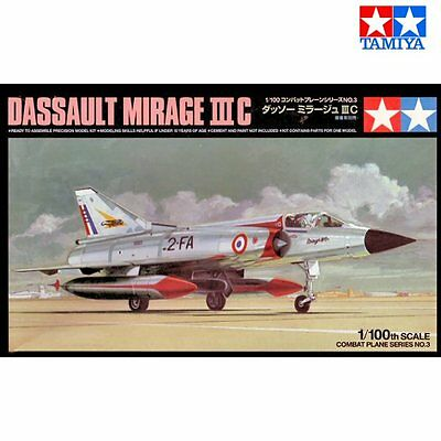 Tamiya 61603 Dassault Mirage III C 1/100 scale plastic model kit