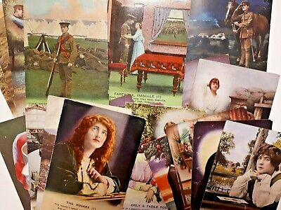 Bamforth Song card Hymn postcards set WW1 Unposted Lots to choose Love Navy Army
