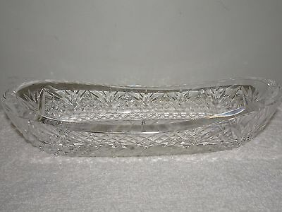 Gorgeous Waterford Crystal Oblong Relish Tray - Excellent!!
