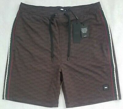 19615c6ecd KITH Tilden Swim Shorts Trunks All Over Box Logo Black / Brown $120 Sz M  Medium