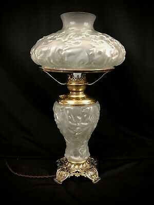 Antique GWTW Pittsburgh Oak Leaf Parlor Lamp Gorgeous