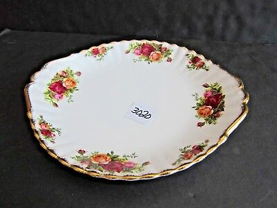Royal Albert Old Country Rose Cake Sandwich Platter 10 1/2 x 9 1/2 inches