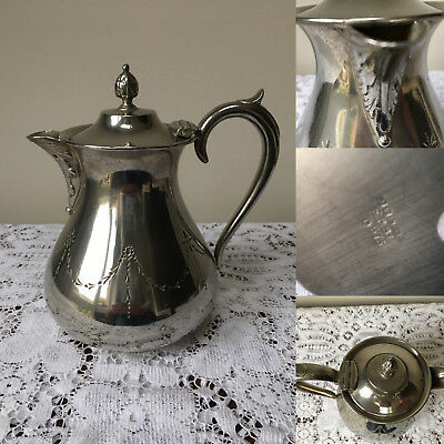 Vintage silver plated small lidded coffee pot by J T and Co