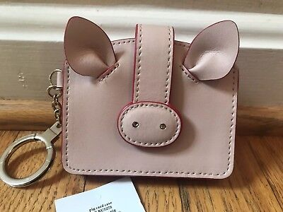 9f0d7dcb9979 Kate Spade Year Of The Pig 🐷 Card Case Coin Leather wallet Key Chain NWT