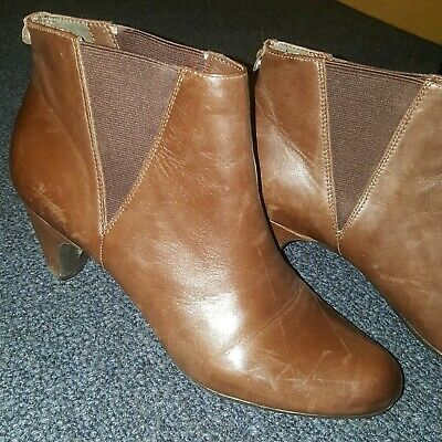 b11ca804d54a SAM EDELMAN WOMENS Size 8 Brown Leather Booties Ankle Boots Petty ...