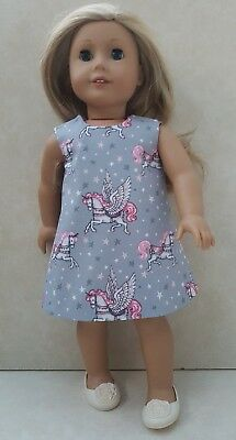 Handmade Doll Clothes fit Our Generation or fit American Girl Grey Unicorn Dress
