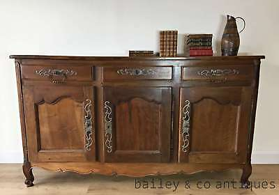 Antique French Long Oak Sideboard Buffet Provincial Louis XV Style - OF043