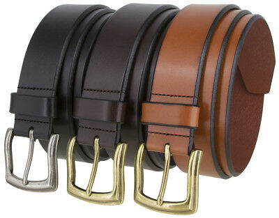 """Oklahoma Casual One Piece Genuine Full Grain Leather Belt 1 1/2"""" Wide"""