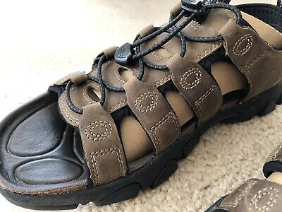 a5934f6b5dc6 Keen Daytona Brown Leather open toe Hiking Waterproof Sandals 10.5   44 NEW.