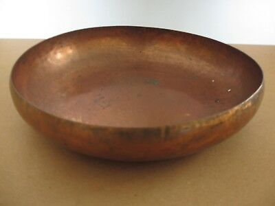 Wonderful Rare Large Northland College Arts And Crafts Hand Hammered Copper Bowl