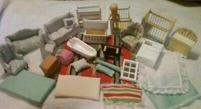 Vintage wooden dollhouse furniture Strombecher Ideal Renwal etc TOY LOT!