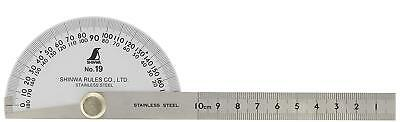 SHINWA PROTRACTOR SINGLE BLADE STAINLESS STEEL No.19/ 62480  F/S from JAPAN